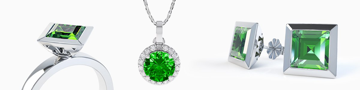 Chrome Diopside Jewelry - from Earrings drops to Pendants to Rings