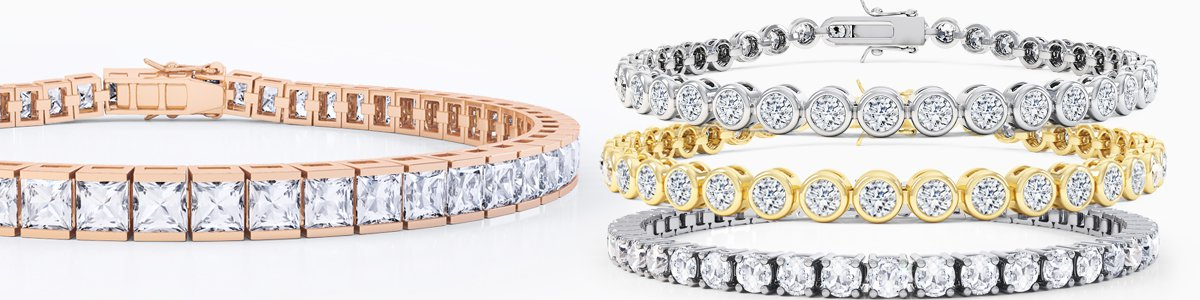 18ct Gold Diamond Bracelets