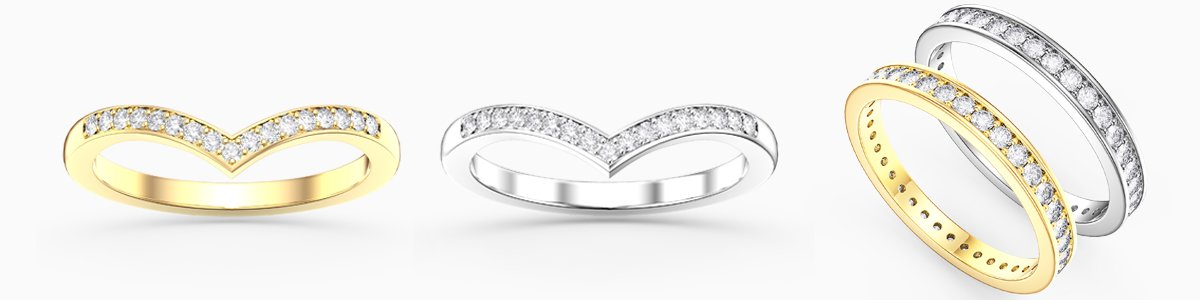 Diamond Wedding Rings for everyone - from precious gemstones to Diamonds. From Silver to 18ct Gold.