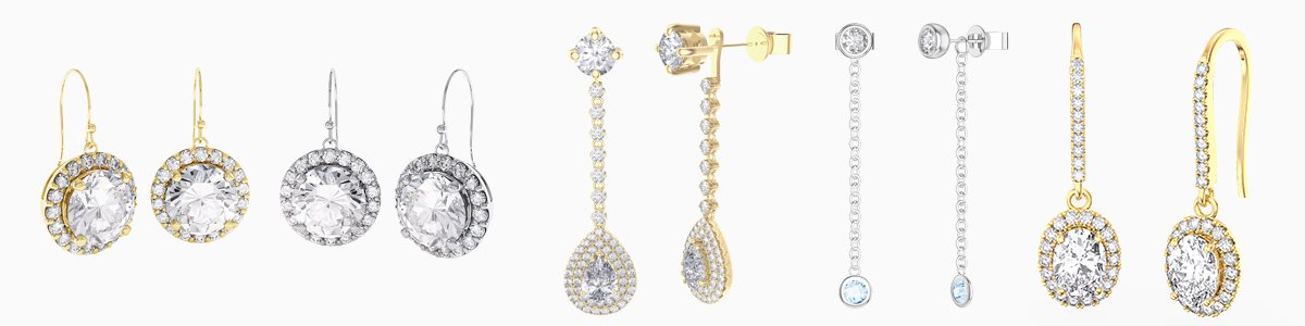 Drop Earrings - from Diamond studs to gemstone drops
