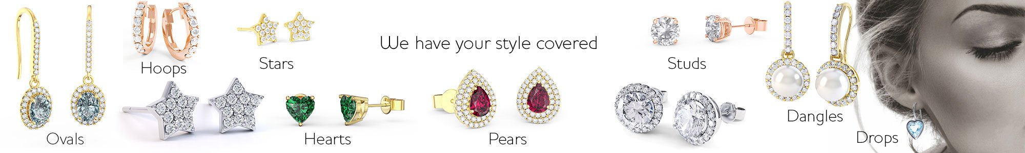 Shop Earrings for your Bridesmaids by Jian London. Free US Delivery