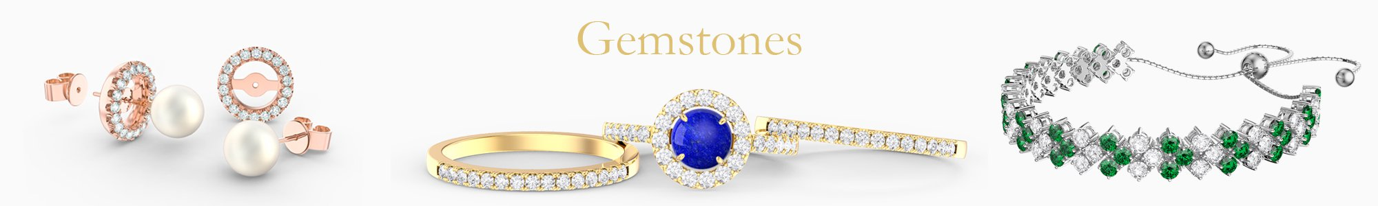 Gemstone Jewelry - from precious gemstones to Diamonds. From Silver to 18K Gold.