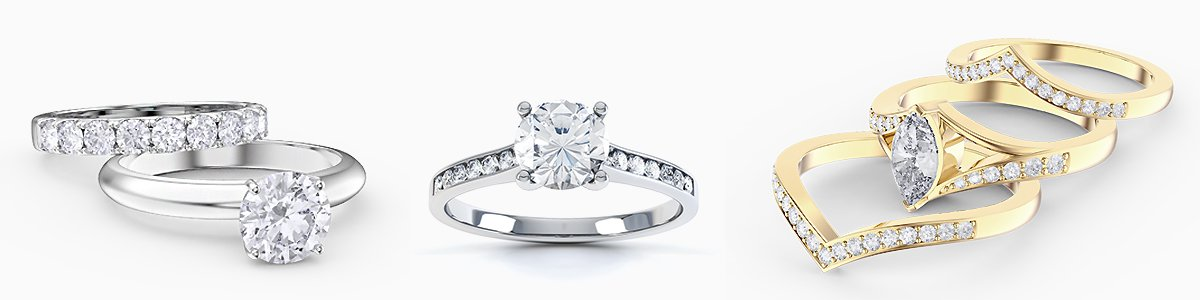 Platinum Wedding Rings to Engagement Rings set with Diamonds