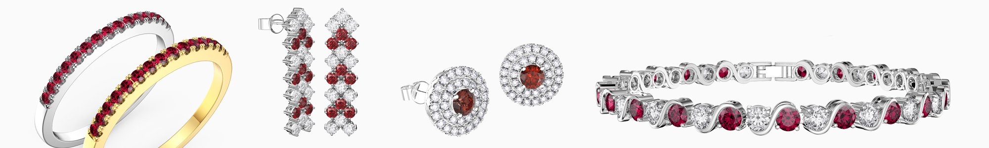 Ruby Jewelry - Wide Selection of Ruby Earrings, Pendants, Engagement Rings, Bracelets and Necklaces