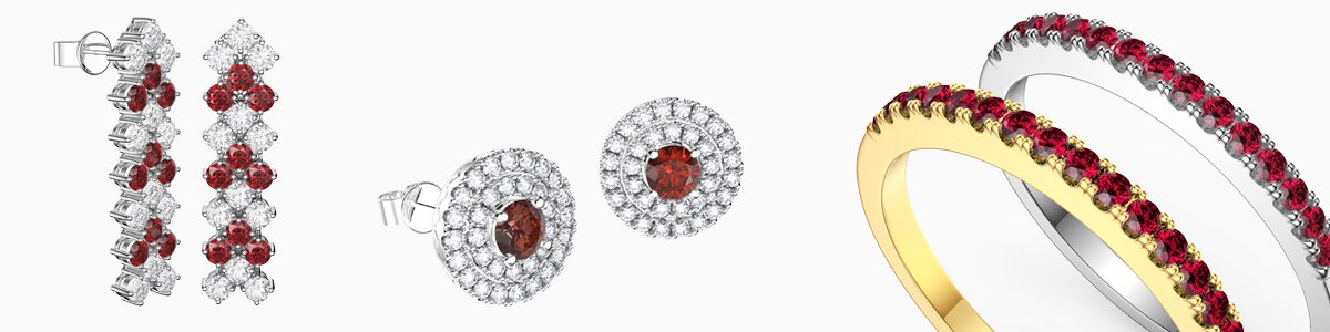 Shop Ruby Jewelry by Jian London. Choose from a great selection of Rings, Earrings, Necklaces, Bracelets, Pendants, Lockets and more at everyday low prices from Jian London. Free US Delivery.