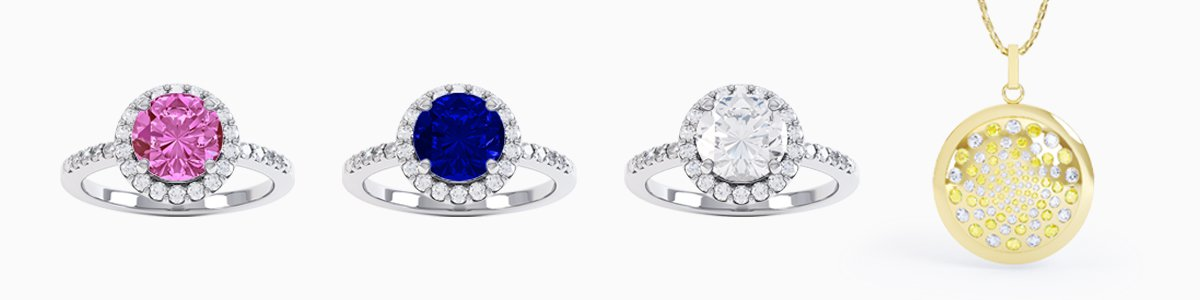 Sapphire Jewelry - Wide Selection of Sapphire Earrings, Studs, Drops, Pendants, Engagement Rings, Bracelets and Necklaces