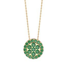 Infinity Emerald Pave and Halo 18K Gold Vermeil Pendant Set