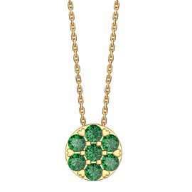 Infinity Pave Emerald Halo 18K Gold Vermeil Pendant