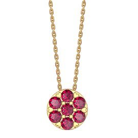 Infinity Pave  Ruby Halo 18K Gold Vermeil Pendant