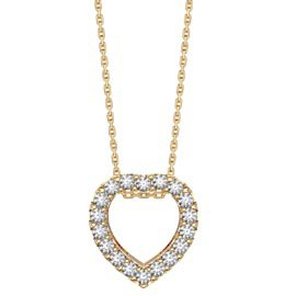 Infinity Heart White Sapphire Halo 18K Gold Vermeil Pendant