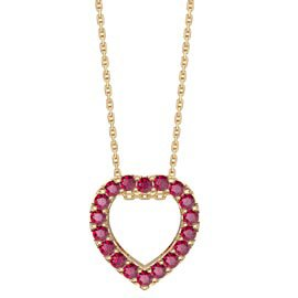 Infinity Heart Ruby Halo 18K Gold Vermeil Pendant