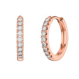 Charmisma White Sapphire 18K Rose Gold Vermeil Hoop Earrings