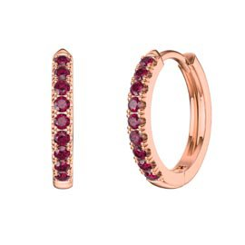 Charmisma Ruby 18K Rose Gold Vermeil Hoop Earrings Small