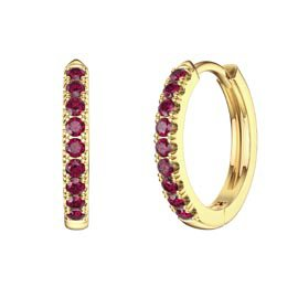 Charmisma Ruby 18K Gold Vermeil Hoop Earrings Small