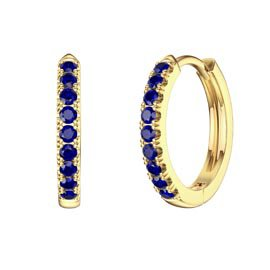 Charmisma Blue Sapphire 18K Gold Vermeil Hoop Earrings Small