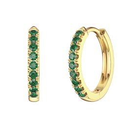 Charmisma Emerald 18K Gold Vermeil Hoop Earrings Small