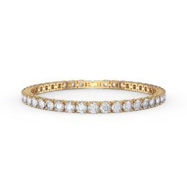 Eternity 10ct Diamond CZ 18K Gold plated Silver Tennis Bracelet