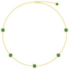 Emerald By the Yard 18K Gold Vermeil Choker Necklace