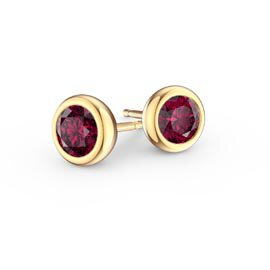 Infinity Ruby 18K Gold Vermeil Stud Earrings