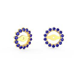 Fusion Sapphire 18K Gold Vermeil Gemburst Halo Earring Jackets