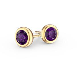 Infinity Amethyst 18K Gold Vermeil Stud Earrings