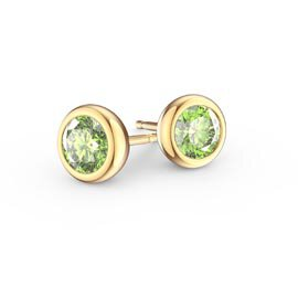 Infinity Peridot 18K Gold Vermeil Stud Earrings