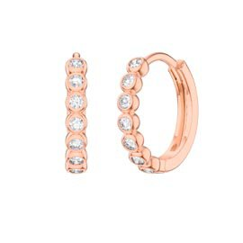 Infinity White Sapphire 18K Rose Gold Vermeil Hoop Earrings
