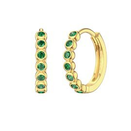 Infinity Emerald 18K Gold Vermeil Hoop Earrings Small