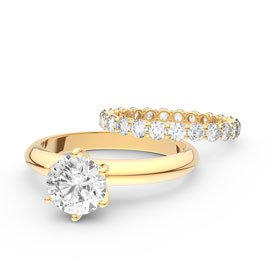 Unity 2.5ct Diamond 18ct Yellow Gold Full Eternity Wedding Ring Set