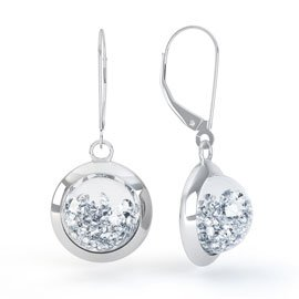 Sapphire Dome 2ct Diamond 18ct White Gold Earrings