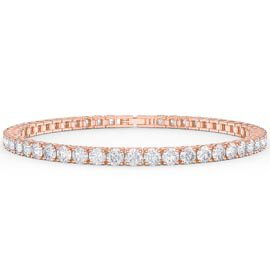 Eternity Diamond CZ 18K Rose Gold Vermeil Tennis Bracelet