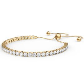 Eternity Diamond CZ 18ct Gold plated Silver Fiji Friendship Tennis Bracelet