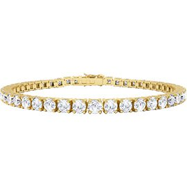 Eternity White Sapphire 18ct Gold Vermeil Tennis Bracelet