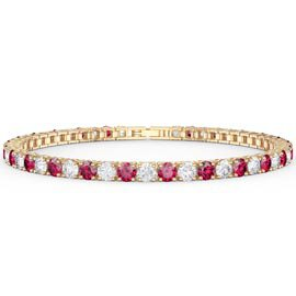Eternity Ruby 18K Gold Vermeil Tennis Bracelet