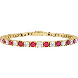 Eternity Ruby 18ct Gold Vermeil Tennis Bracelet