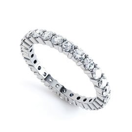 Promise Diamond Platinum Full Eternity Ring 2.5mm Band