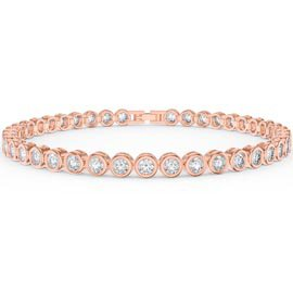 Infinity Diamond CZ 18K Rose Gold Vermeil Tennis Bracelet