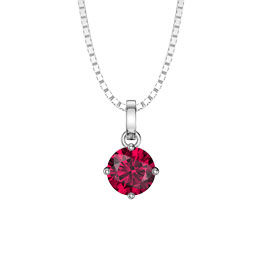 Charmisma 1.0ct Ruby Platinum plated Silver Pendant