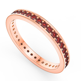 Promise Ruby 18ct Rose Gold Channel Full Eternity Ring