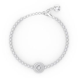 Fusion 1.76ct Diamonds 18ct White Gold Tennis Bracelet