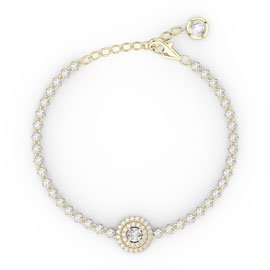 Fusion 1.76ct Diamond 18ct Yellow Gold Tennis Bracelet