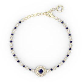 Fusion Sapphire and Diamond 18ct Yellow Gold Tennis Bracelet