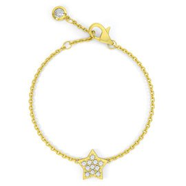 Charmisma GH SI1 Diamond Star 18ct Yellow Gold Bracelet
