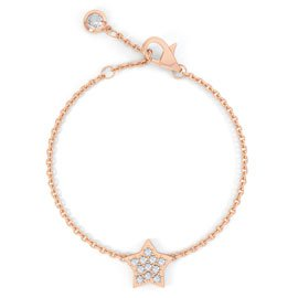 Charmisma GH SI1 Diamond Star 18ct Rose Gold Bracelet