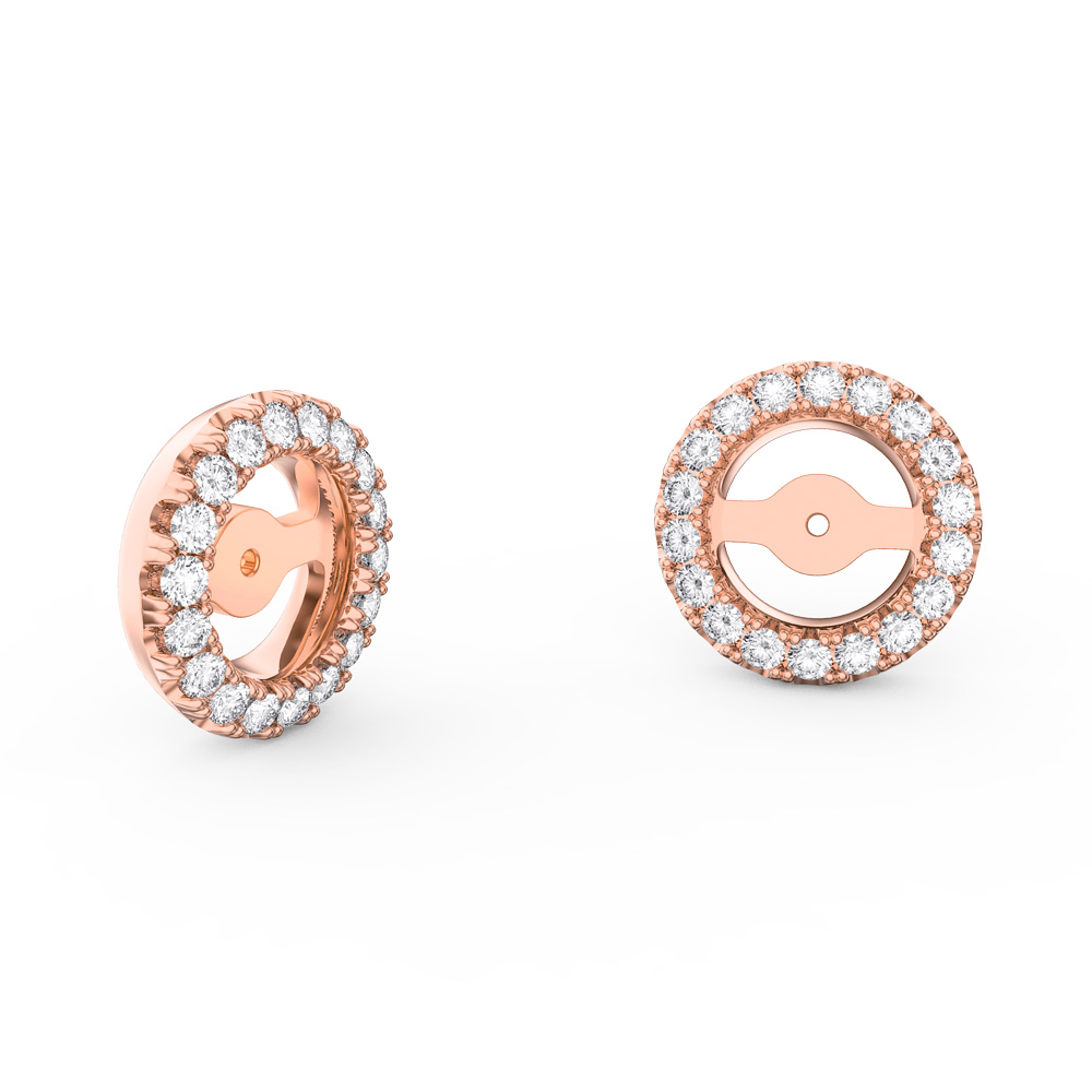 Fusion White Sapphire 18ct Rose Gold Vermeil Earring Halo Jackets