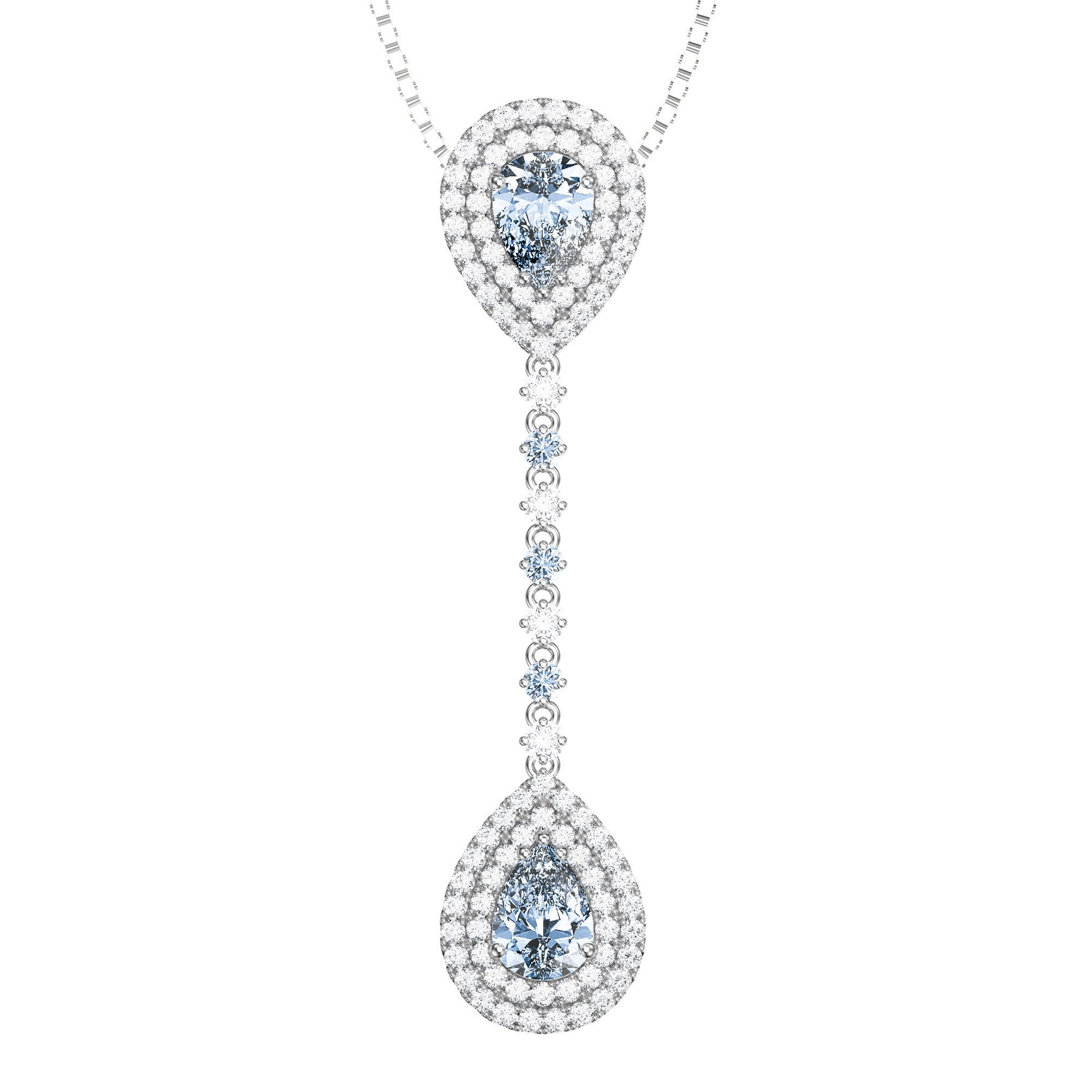 tanzanite diamond pear and sapphire pendant
