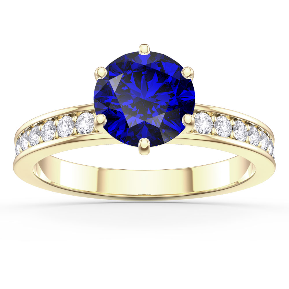 Unity 1ct Sapphire 18ct Gold Vermeil Channel Set Promise Ring