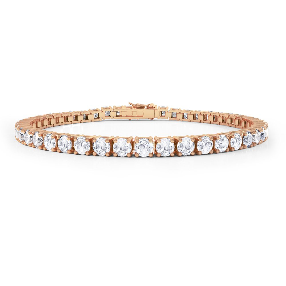 Eternity White Shire 18ct Rose Gold Tennis Bracelet