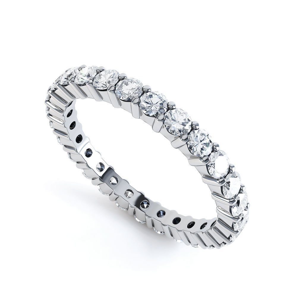 Promise Diamond 18K White Gold Full Eternity Ring