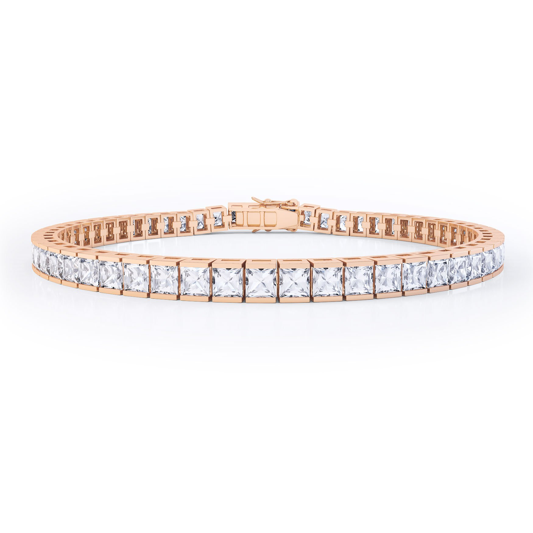 clear diamond jewelry cz cut gold bridal bracelet round carat wedding rose classic cassidy fashion cubic faux zirconia crystal tennis bridesmaid products
